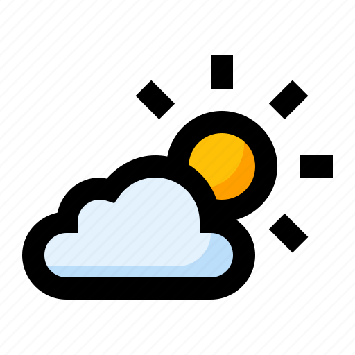 cloud, cloudy, spring, sun, weather icon