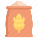 bag of grain, nature, sack, season, spring, weather, wheat bag