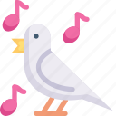 animal, bird sing, dove, nature, season, spring, weather