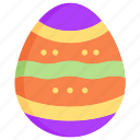 colored, decoration, easter egg, nature, season, spring, weather icon