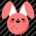 rabbit, bunny, easter, animal, emoji