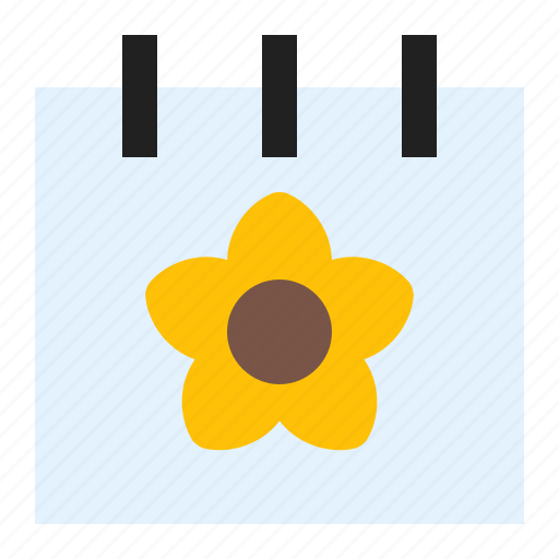 calendar, flower, season, spring icon