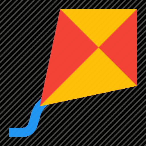 flying, kite, spring icon
