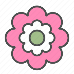 blossom, flower, nature, pink, spring icon