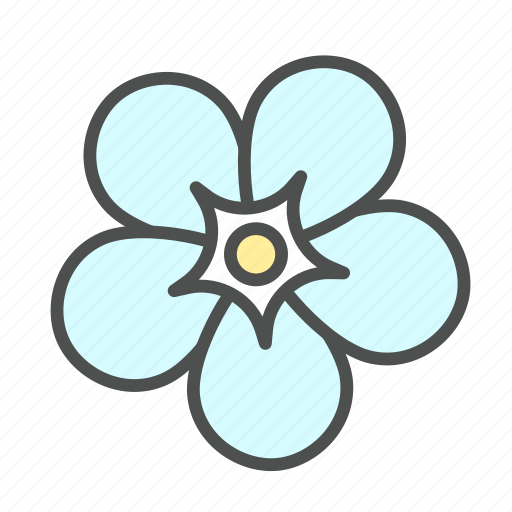 blossom, flower, forget, me, nature, not, spring icon