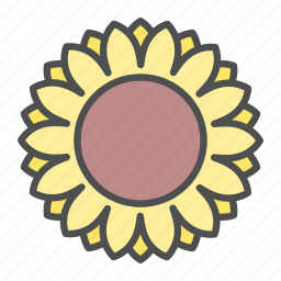 blossom, flower, nature, spring, sunflower icon