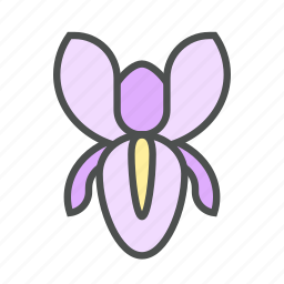 blossom, flower, iris, nature, spring icon