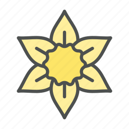 blossom, daffodil, flower, nature, spring icon
