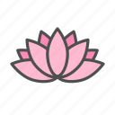 blossom, flower, lotus, nature, spring icon