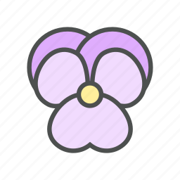 blossom, flower, nature, spring, violet icon