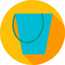 bucket, bucketful, equipment, garden, pail, tool, water icon