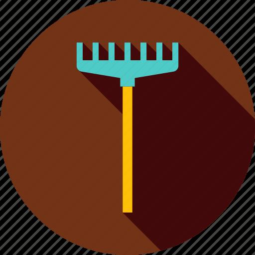 agriculture, equipment, garden, gardening, rake, raker, tool icon