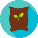 agriculture, bag, garden, nature, plant, seed, sprout icon