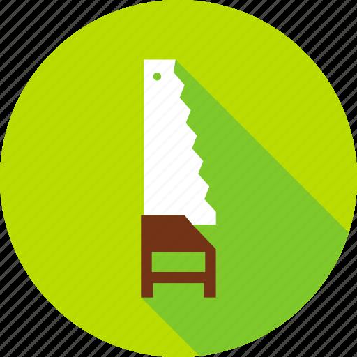 construction, equipment, garden, gardening, handsaw, saw, tool icon