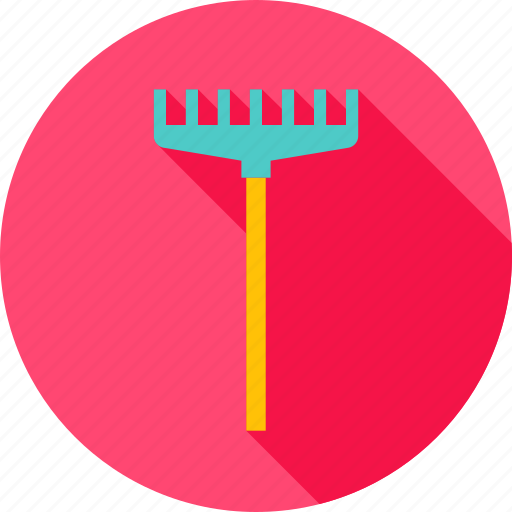 cultivation, equipment, garden, gardening, rake, raker, tool icon
