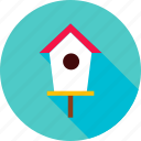 bird, bird house, garden, home, house, outdoor icon