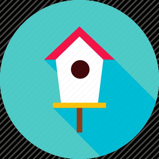 bird, bird house, garden, home, house, outdoor icon