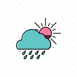 cloud, cloudy, march, may, rain, sky, spring icon