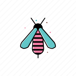 bee, insect, may, nature, season, spring icon