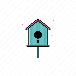 bird house, decoration, nest, spring icon