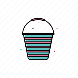 bucket, pot, spring icon