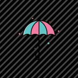 decoration, graphic, rain, spring, umbrella icon