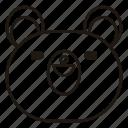 bear, teddy, animal, toy, face, emoji