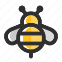 bee, bumble bee, fly, honey, honey bee, insect, spring icon