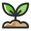 garden, grow, leaf, plant, seed, spring, sprout icon