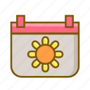 calendar, date, spring