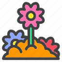 burried, flower, garden, park, plant, spring icon