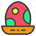 basket, easter, egg, hatch, spring icon