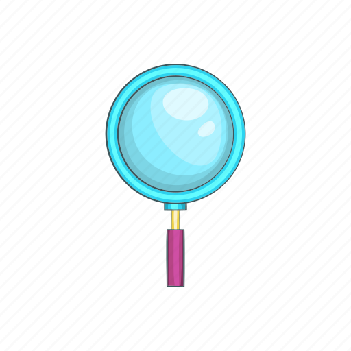 cartoon, glass, lens, magnification, magnifier, magnifying, sign icon