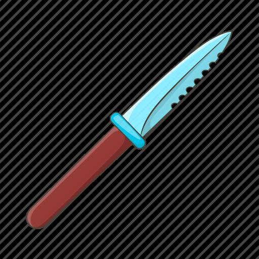 blade, cartoon, cut, handle, knife, sharp, steel icon