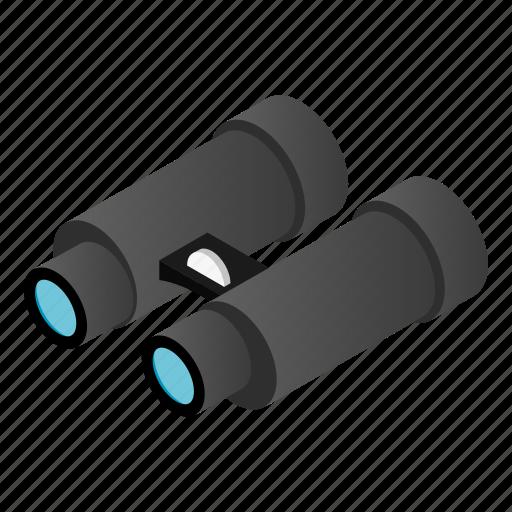 binocular, instrument, isometric, military, vision, watch, zoom icon