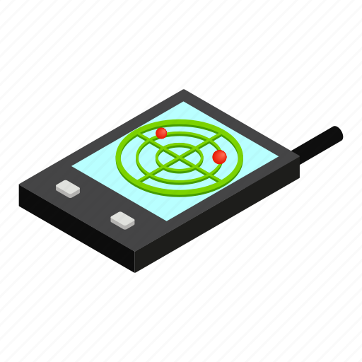 communication, gps, isometric, mobile, screen, technology, wireless icon