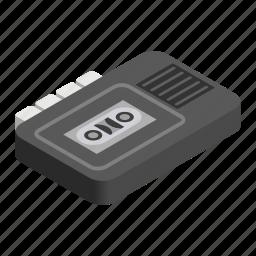 audio, isometric, old, recorder, retro, sound, tape icon