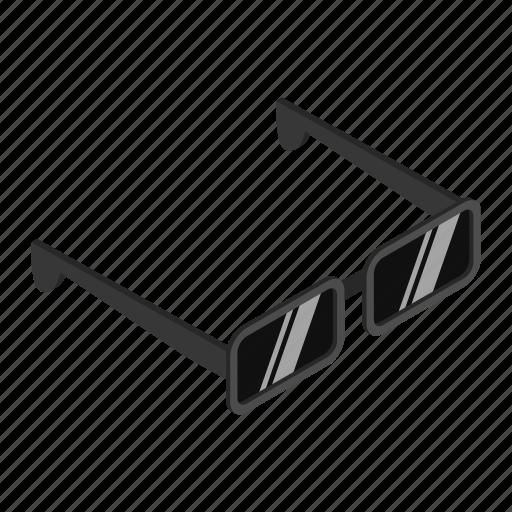 discovery, eye, glass, isometric, lens, optical, spy icon