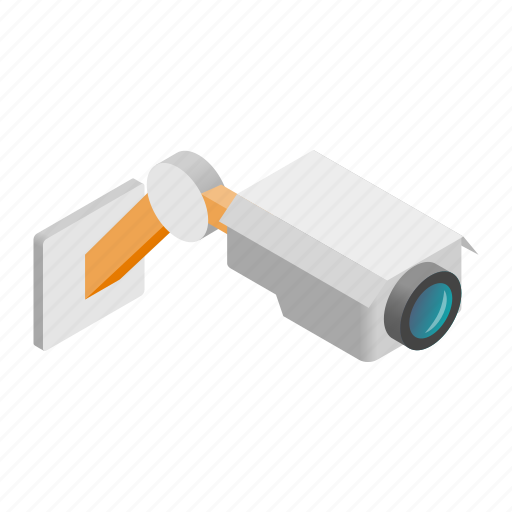camera, cctv, crime, danger, isometric, street, theft icon