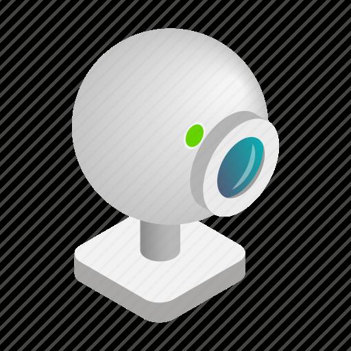 cam, camera, illustration, isometric, technology, video, web icon