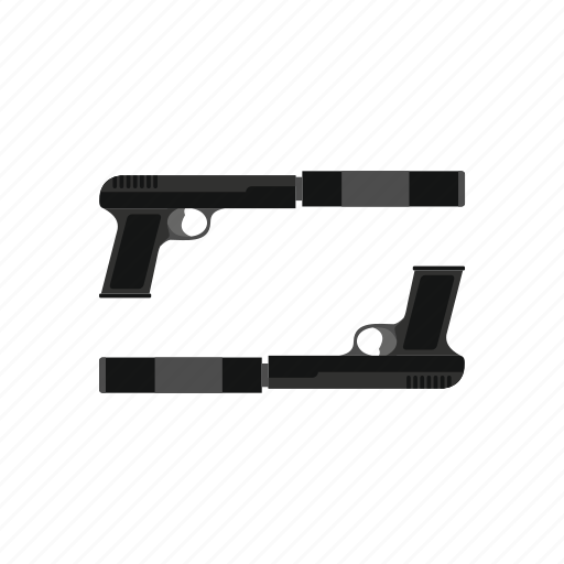 fight, firearm, gun, kill, pistol, steel, two icon