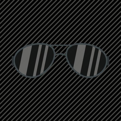 cool, dark glasses, glasses, sun, sunglasses, sunlight, vision icon