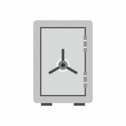 bank, banking, combination, lock, metal, safe, solid icon