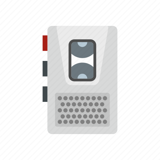 dictaphone, dictation, journalist, line, old, sound, technology icon