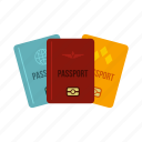 citizenship, destination, document, national, passport, state, travel icon