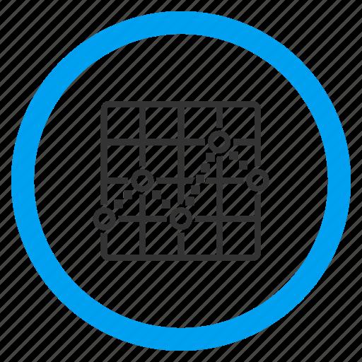 analytics, chart, diagram, function, graph, line, plot icon