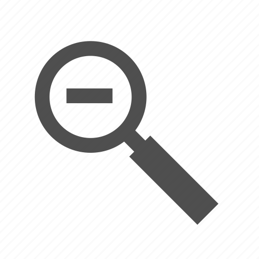 glass, magnifying, magnifying glass, out, search, zoom icon
