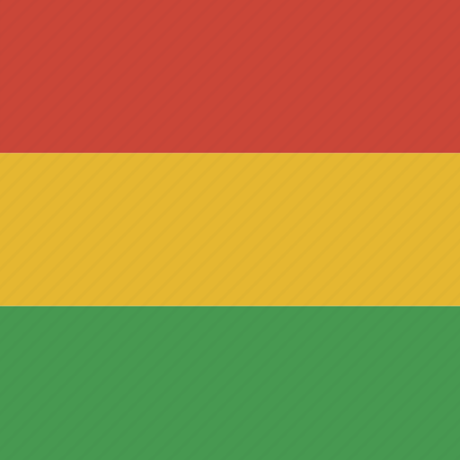 bolivia, flag, square icon