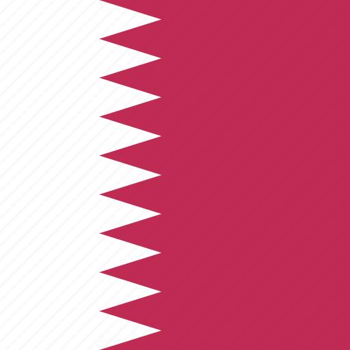 qatar, square icon