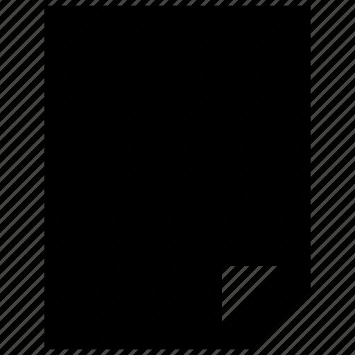 data, document, empty, file, single icon